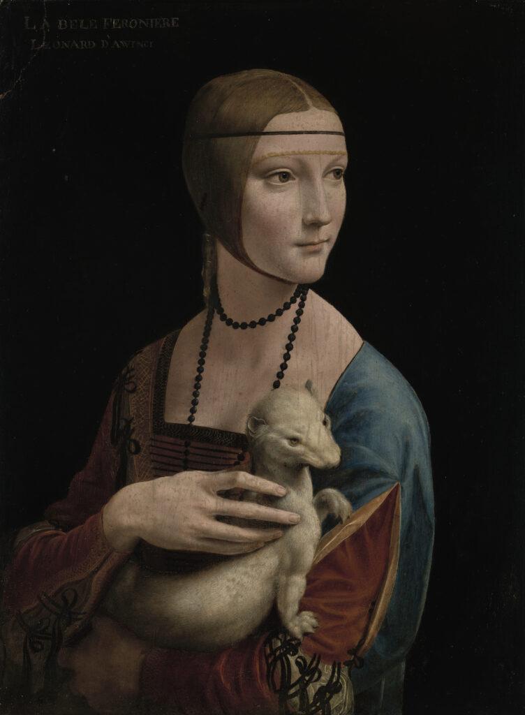 Dama z Gronostajem, jeden z obrazów dostępny w ramach #zostańwdomu i zwiedzaj polskie muzea.