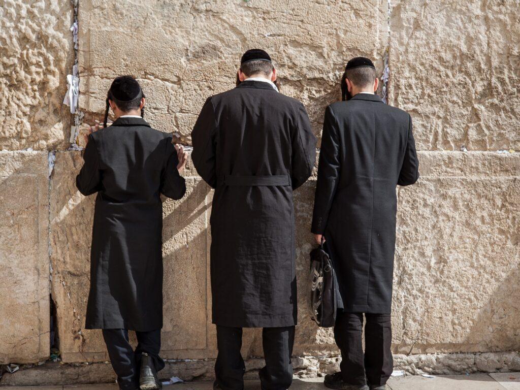 Ściana Płaczu, ortodoksyjni Żydzi, Ziemia Święta